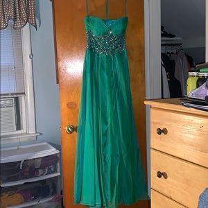 Cache Emerald Prom Dress